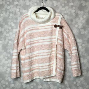 Calvin Klein Sweater Cape with Buckle